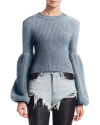 Alexander Wang - Engineer Rib-knit Cropped Top - Lyst