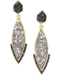 Shana Gulati - Rami Ameerah Pave Black Diamond Drop Earrings - Lyst