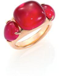 Pomellato - Rouge Passion Burma Three-stone Ring - Lyst