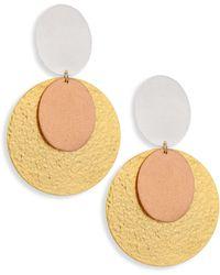 Stephanie Kantis | Sunset Tri-tone Double-drop Clip-on Earrings | Lyst