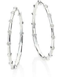 Ippolita - Glamazon Stardust Diamond & Sterling Silver Hoop Earrings/1.5 - Lyst