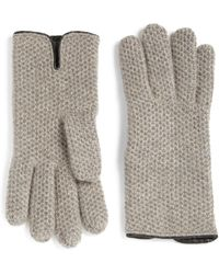 Portolano - Honeycomb Cashmere Gloves - Lyst
