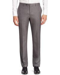 Corneliani - Solid Slim-fit Wool Pants - Lyst