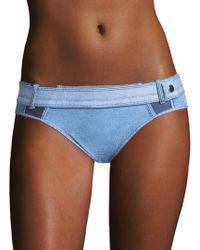 Jonathan Simkhai - Denim Buckle Bikini Bottom - Lyst