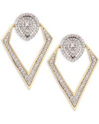 Plevé - Pirouette 18k Yellow Gold & Diamond Pear-shaped Convertible Earrings - Lyst