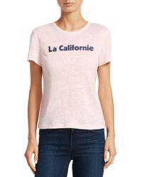 A.L.C. - La Californie Linen Tee - Lyst
