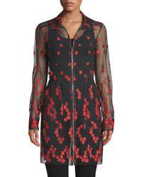 Elie Tahari - Nicolette Sheer Embroidered Coat - Lyst