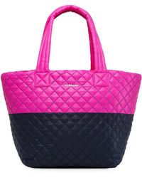 MZ Wallace - Quilted Punch And Dawn Colorblock Medium Metro Tote - Lyst