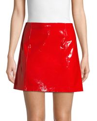 Polo Ralph Lauren - Tsa Patent Leather Skirt - Lyst