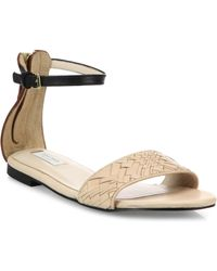Cole Haan | Genevieve Weave Leather Ankle-strap Sandals | Lyst
