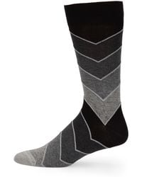Saks Fifth Avenue - Men's Collection Repeated Arrow Socks - Brown - Lyst