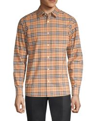 Burberry - Small Scale Core Stretch Check Button-down Shirt - Lyst