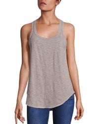 Wilt - Cotton Shirttail Hem Tank Top - Lyst
