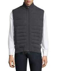 Corneliani - Quilted Knit Vest - Lyst