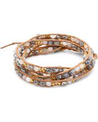 Chan Luu - Mystic Labradorite Mix Wrap Bracelet - Lyst
