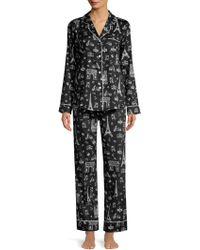Saks Fifth Avenue - Paris Print Pajama Set - Lyst