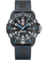 Luminox - Sea Coronado Rubber Strap Watch - Lyst