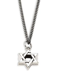 King Baby Studio - 0.925 Sterling Silver Large Star Of David Pendant Necklace - Lyst