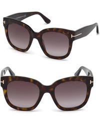 Tom Ford - 55mm Beatrix Square Sunglasses - Lyst