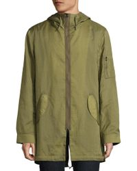 Ovadia And Sons - Dalton Rips Hooded Overcoat - Lyst