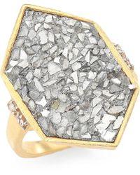Shana Gulati - Charushila Champagne Diamond Izusa Ring - Lyst
