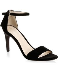 Cole Haan - Velvet Ankle Strap Sandals - Lyst