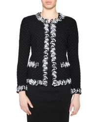 Stizzoli - Classic-fit Textured Contrast Trim Jacket - Lyst