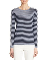 Akris Punto - Tri-color Striped Knit Top - Lyst