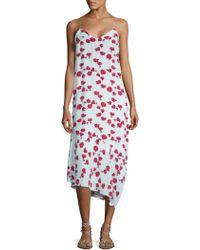 Equipment - Jada Asymmetrical Floral Print Dress - Lyst