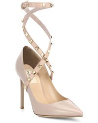 Valentino - Studwrap Leather Ankle-strap Pumps - Lyst