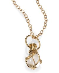 Temple St. Clair - Tree Of Life Rock Crystal, Diamond & 18k Yellow Gold Small Vine Amulet - Lyst