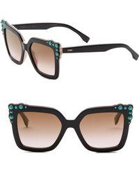 Fendi - 52mm Gradient Cat Eye Sunglasses - Lyst