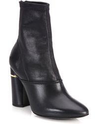 3.1 Phillip Lim - Kyoto Stretch Leather Block Heel Booties - Lyst