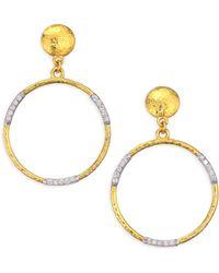 Gurhan - 22k Gold & Diamond Openwork Hoop Earrings - Lyst