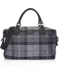 Barbour - Shadow Tartan Explorer Duffel Bag - Lyst