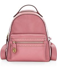 COACH - Rivet Trim Campus Leather Backpack - Lyst