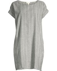 4885433cda Eileen Fisher - Striped Hemp Mini Sheath Dress - Lyst