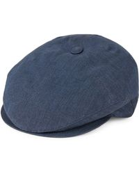 Hickey Freeman - Textured Linen Hat - Lyst