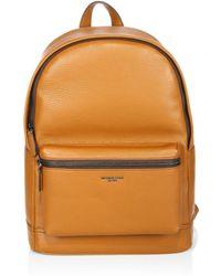 c64d8d033655 Michael Kors Bryant Retro Stripe Leather Backpack in Black for Men ...