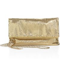 Whiting & Davis | Snake Head Foldover Convertible Clutch | Lyst