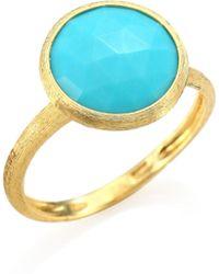 Marco Bicego - Jaipur Turquoise & 18k Yellow Gold Ring - Lyst