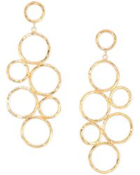 Nest - Hammered 24k Goldplated Drop Earrings - Lyst