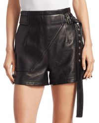 3.1 Phillip Lim - Utility Leather Shorts - Lyst