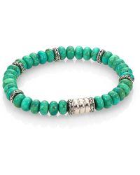 John Hardy - Batu Bedeg Sterling Silver Bracelet/mohave Green Turquoise - Lyst
