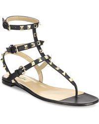 Valentino - Garavani 'rockstud' Gladiator Sandals - Lyst