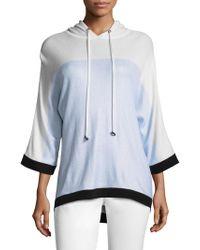 St. John - Knit Hooded Sweater - Lyst
