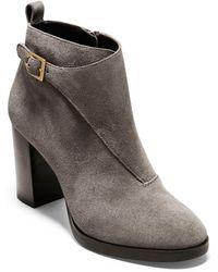 Cole Haan - Harrington Grand Riding Bootie (maple Sugar Suede) Women's Shoes - Lyst