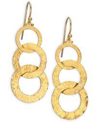 Gurhan - Hoopla 24k Yellow Gold Infinity Triple-drop Earrings - Lyst
