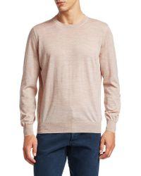 08cbfc2266 Lyst - Brunello Cucinelli Elbow Patch Crewneck Sweater in Blue for Men