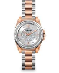 Breil - Manta Two-tone Stainless Steel & Crystal Bracelet Watch - Lyst